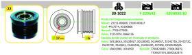 Ijs Group 301022 - POLEA ALTERNADOR MITSUBISHI - NISSAN - OPEL - RENAULT - VAUX