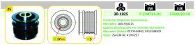 Ijs Group 301025 - POLEA ALTERNADOR MERCEDES BENZ