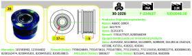 Ijs Group 301026 - POLEA ALTERNADOR RENAULT - MITSUBISHI - NISSAN - OPEL - VAUX